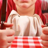 Pakkeleg med kniv og gaffel
