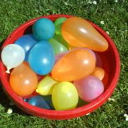 Ringridning med vandballoner