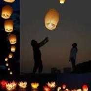 Balloner til vejrs med ønsker i